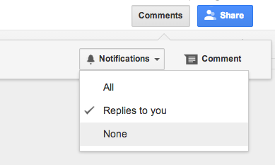 Notifications: All, Replies to you. None