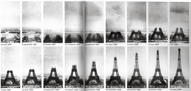 Timeline of construction of Eifel